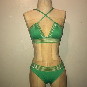 H&M,women's, green swimsuit .size small.